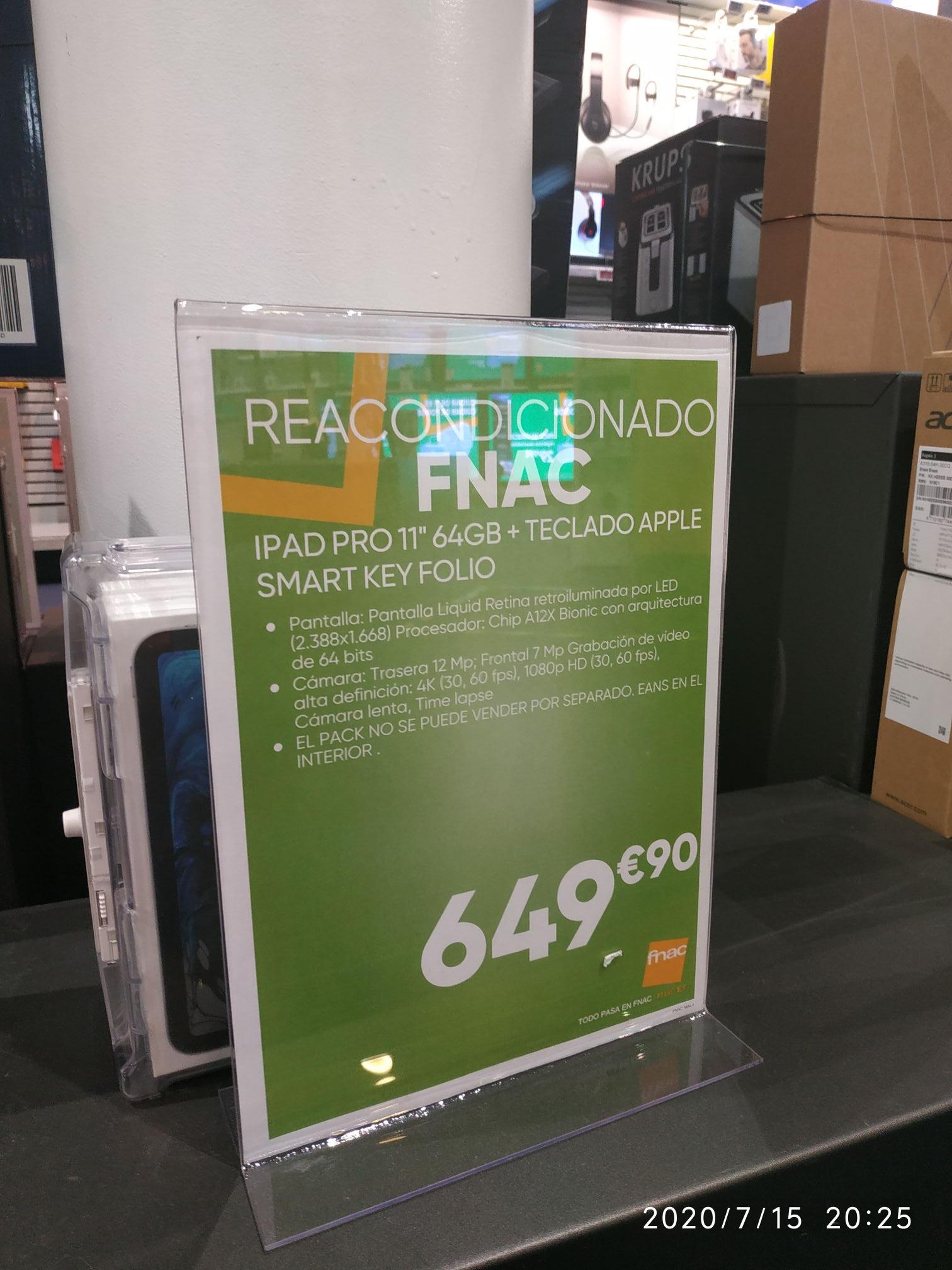REACONDICIONADO:IPad PRO+Teclado Smart Key Folio en Fnac Málaga
