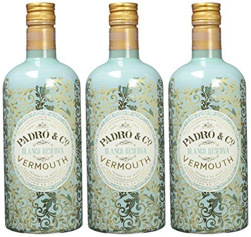 Vermouth Padró & Co Blanco Reserva - 3 botellas de 75 cl, Total: 2250 ml
