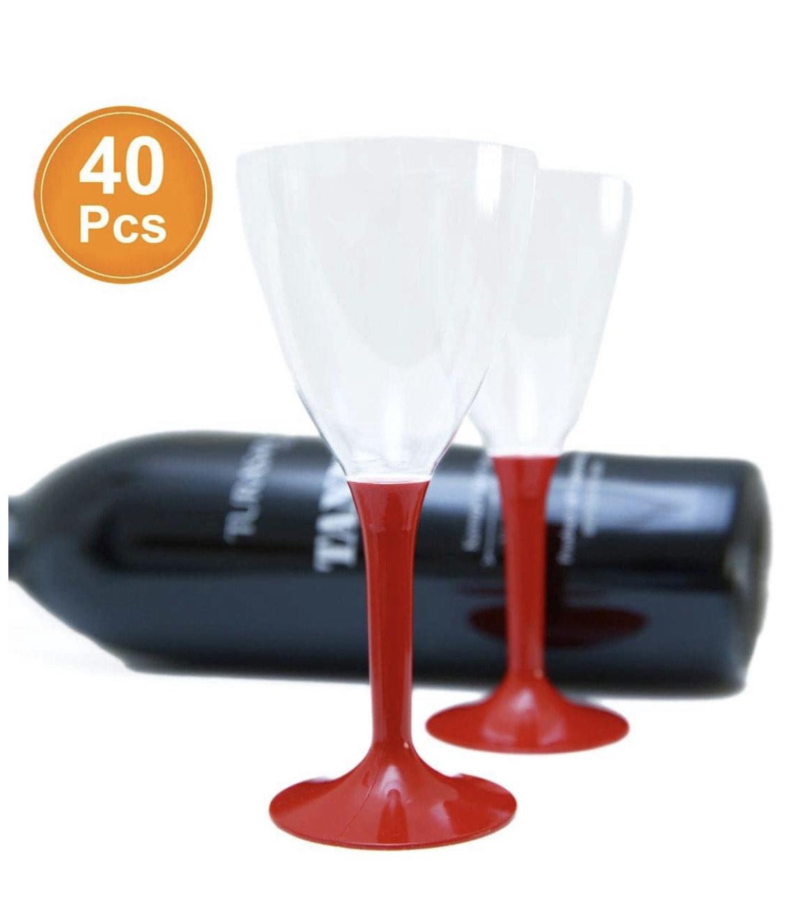 40 copas de vino desechables