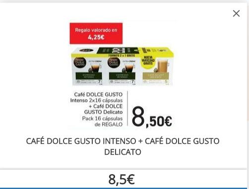Café Dolce Gusto Inteso (2x16) + Café Dolce Gusto Delicato (1x16) de regalo