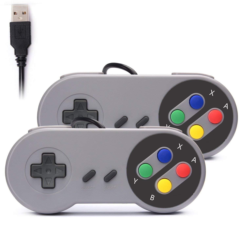 2 mandos Retro USB Super Nintendo (OFERTA FLASH)