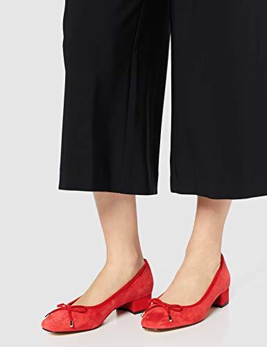 TALLA 37 - find. Mini Heel Leather Ballet - Zapatos de Tacón Mujer