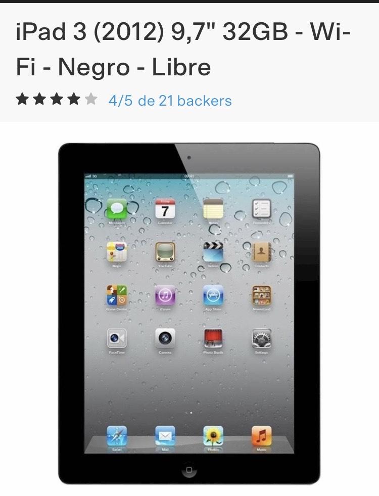"""iPad 3 (2012) 9,7"""" 32GB - Wi-Fi - Negro - Libre de segunda mano"""
