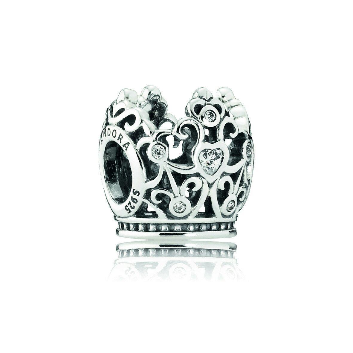Charm en plata de ley Corona de Princesa