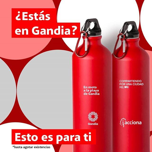 Botella Aluminio de Acciona Gratis en GANDIA