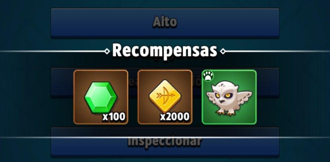 Archero: 100 Gemas + Mascota verde + 2000 monedas gratis