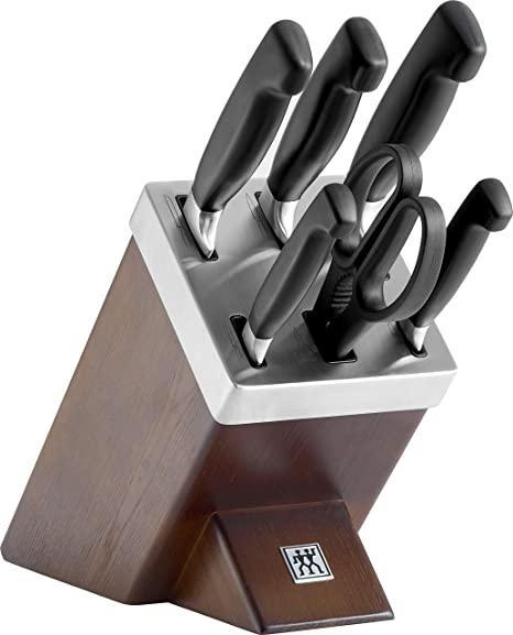Zwilling 35145-000-0 - Juego de cuchillos con soporte (7 piezas, madera de fresno)