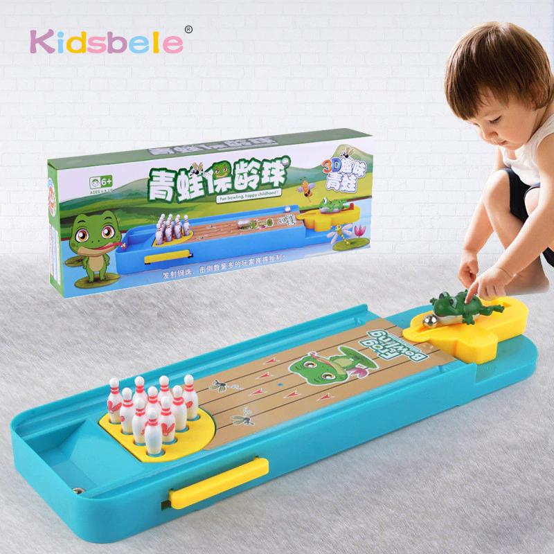 Mini juego de bolos juguete interior, regalo educativo para los niños.
