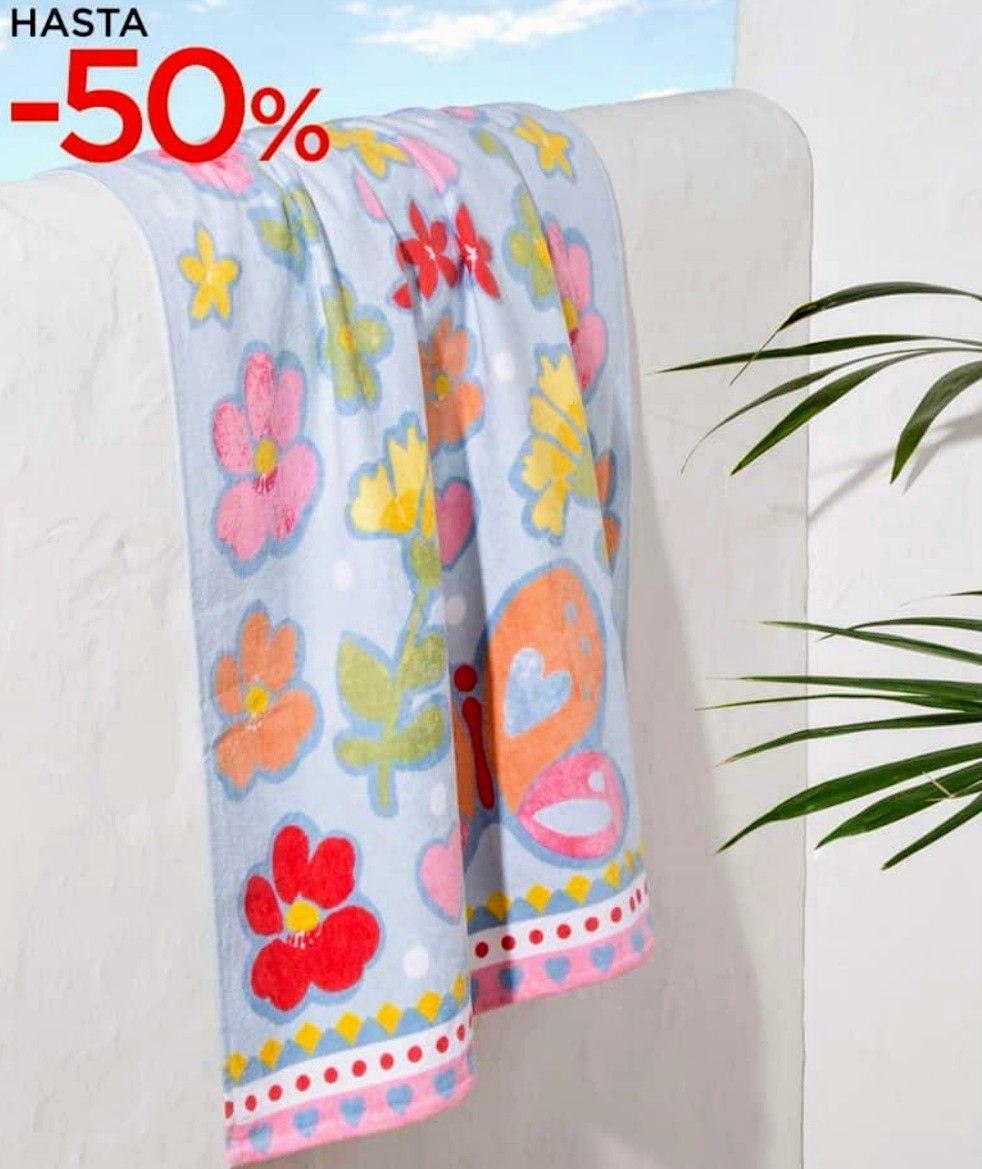 Hasta el 50% dto.en toallas playa, poncho, pareos...(Recogida gratis en tienda)