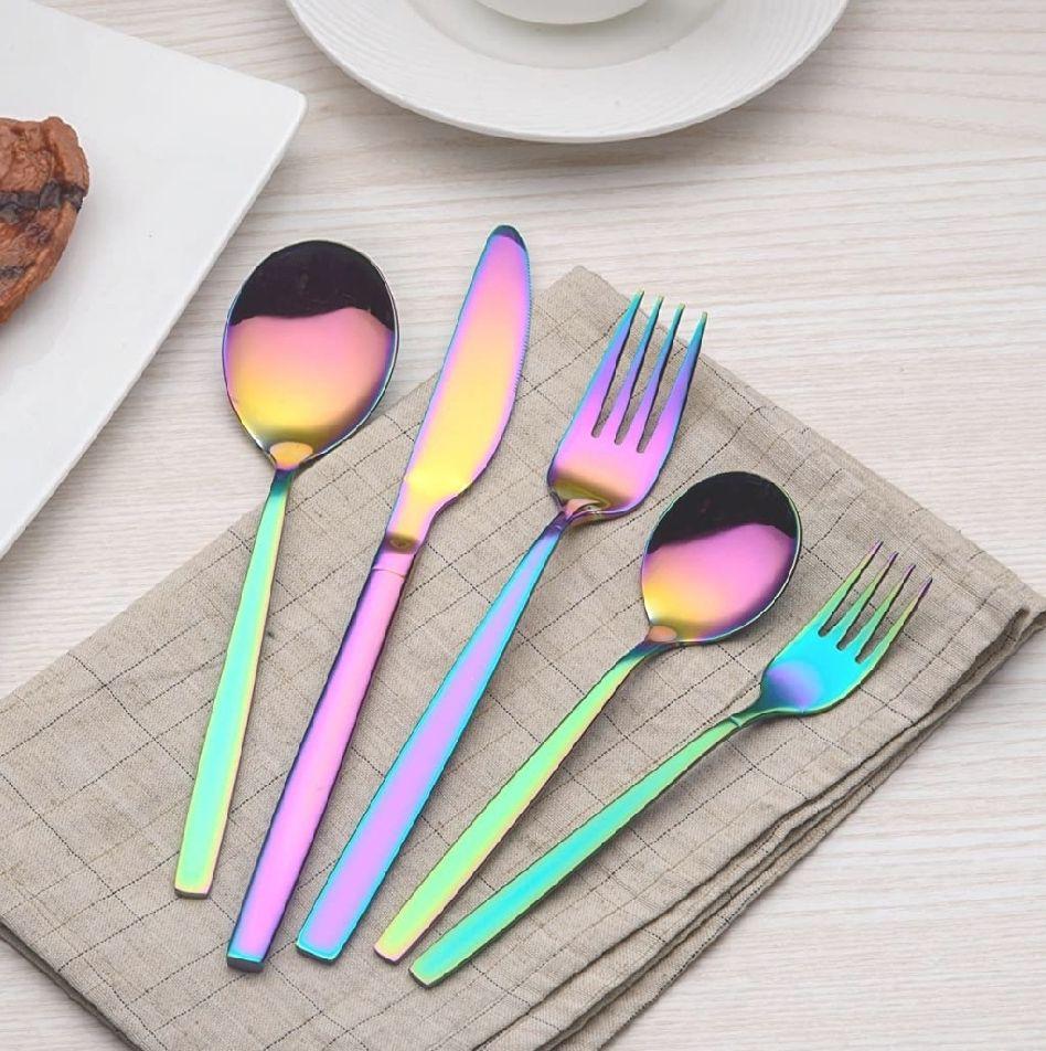 30 piezas de acero inoxidable color del arco iris