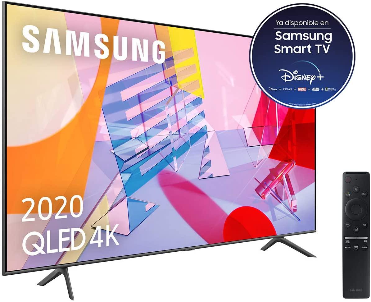 """Samsung QLED 4K 2020 50Q60T - Smart TV de 50"""" con Resolución 4K UHD, con Alexa integrada, Inteligencia Artificial 4K"""