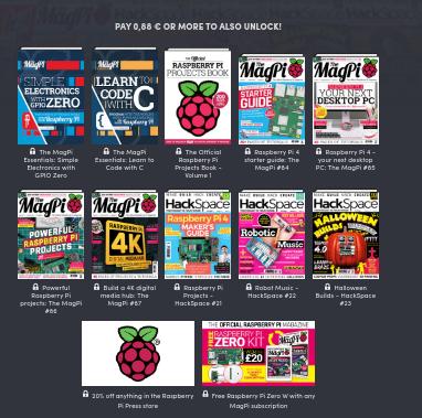Raspberry PI, 12 revistas desde 0,88€