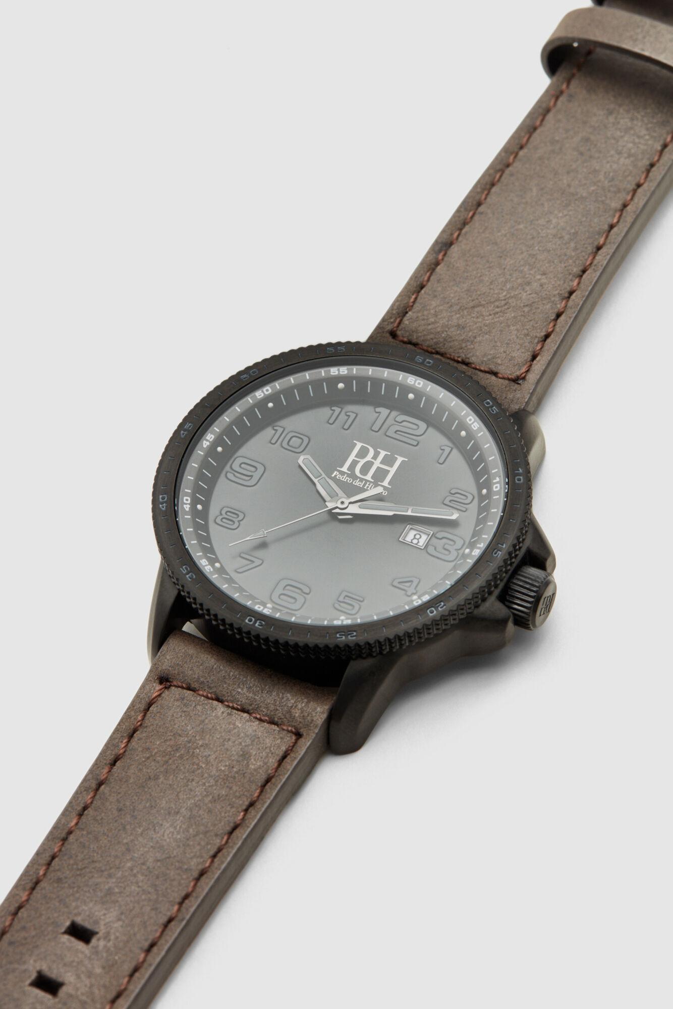 Pedro del Hierro Reloj 3 agujas correa piel