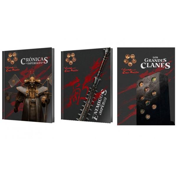 La Leyenda de los Cinco Anillos 4ª edición, suplementos: Grandes Clanes, Enemigos del Imperio, Crónicas Imperiales