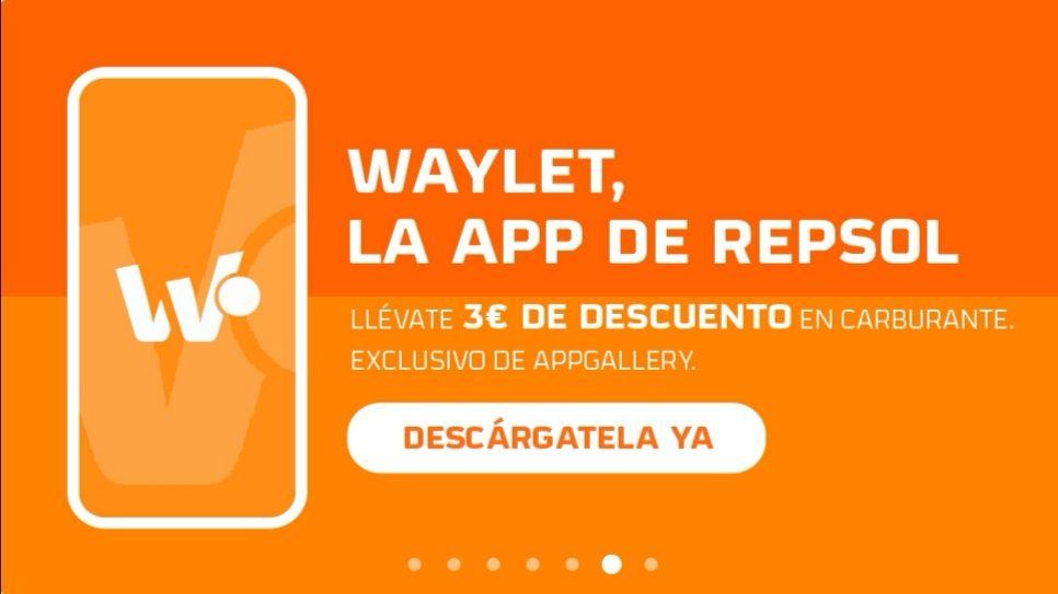 3€ de descuento en Waylet desde Huawei AppGallery