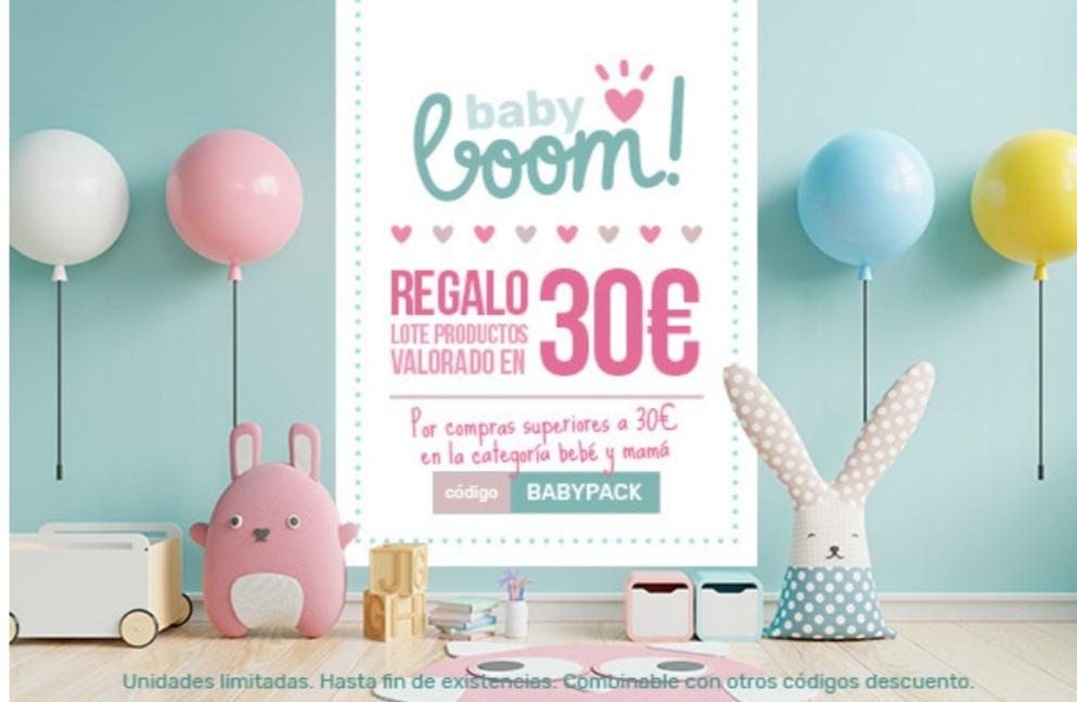 Regalo pack bebé a partir de 30€ (sección Bebé y Mamá) en Dosfarma