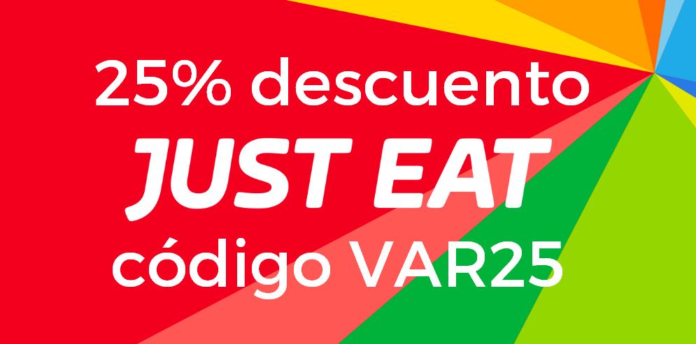 25% descuento descuento en Just Eat