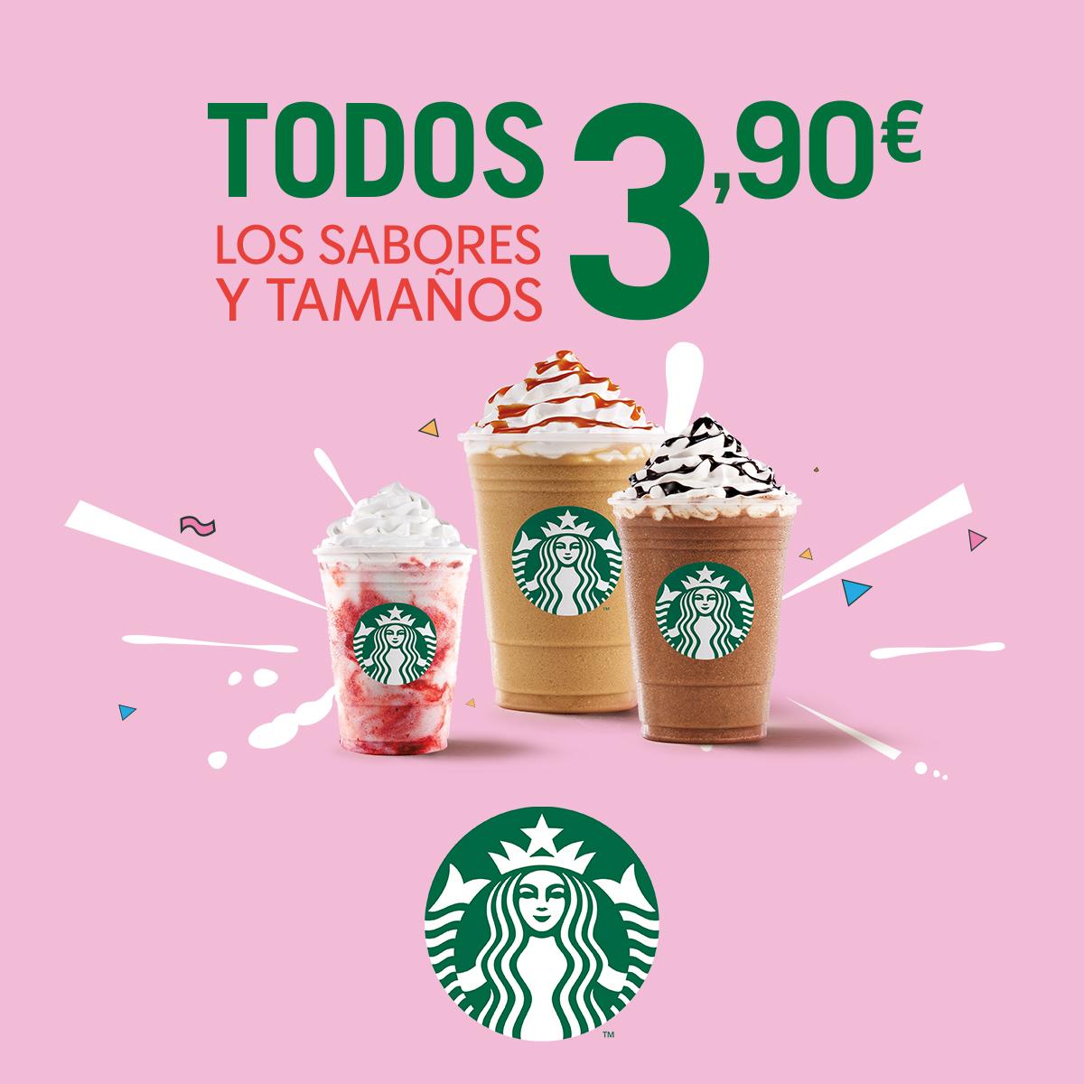 Todos los Frappuccino a 3.90€ en Starbucks