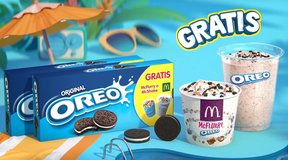 McFlurry o McShake de regalo comprando 2 productos Oreo