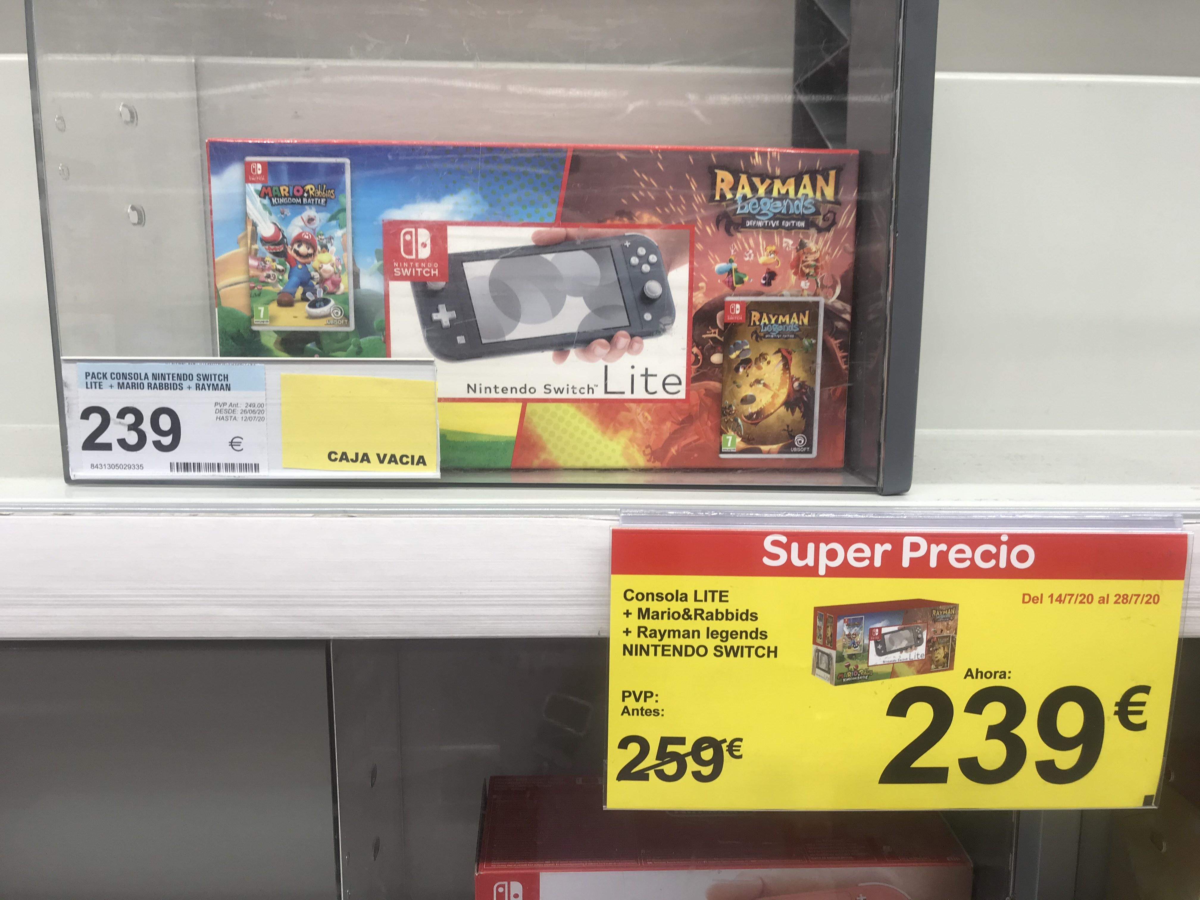 Nintendo Switch lite en carrefour de Erandio, Vizcaya