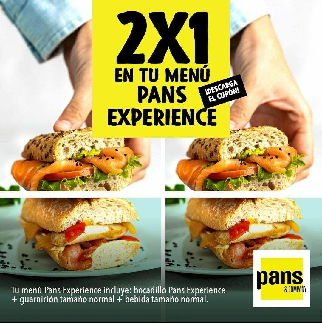 2x1 en menú Pans & Company
