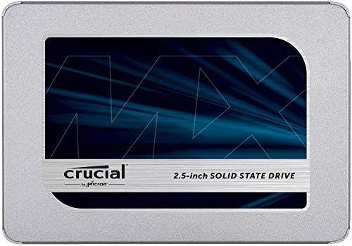 Crucial MX500 500GB CT500MX500SSD1-hasta 560 MB / s (3D NAND, SATA, 2.5 pulgadas, SSD interno)