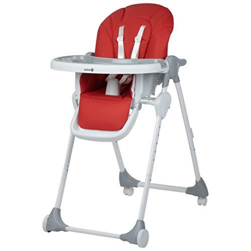 Safety 1st Looky Trona para bebé evolutiva y reclinable en 3 posiciónes, ajustable en altura, plegable compacto con 4 ruedas,color Warm Grey