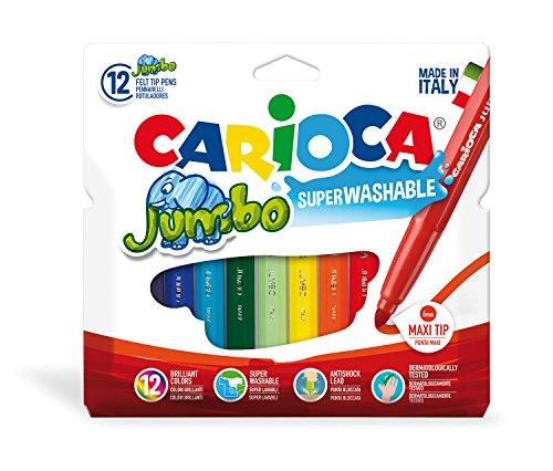12 rotuladores de colores Jumbo