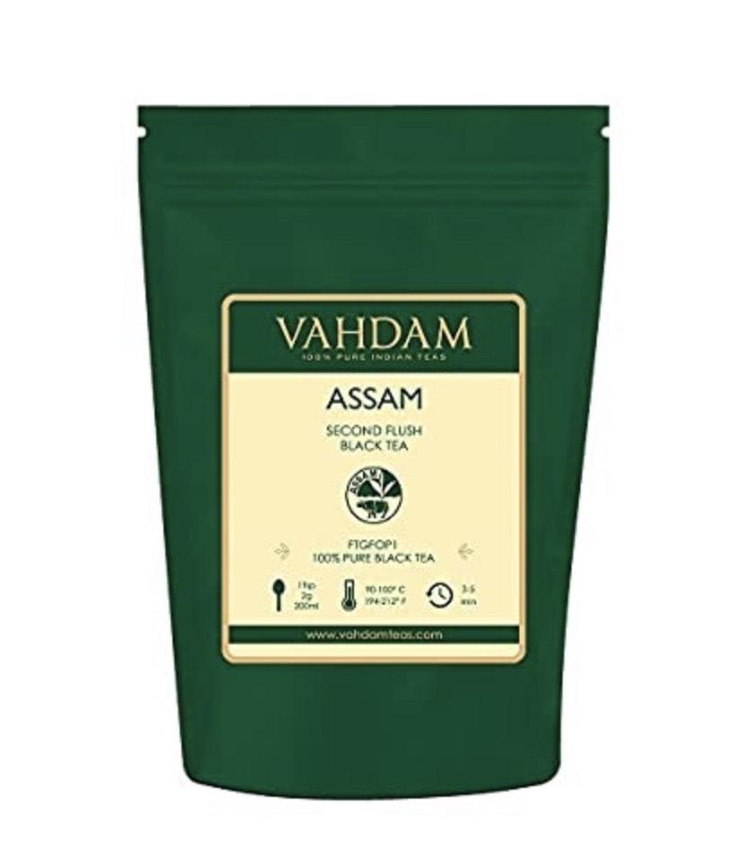 Hoja de Té Negro Assam (+200 Tazas) | FUERTE, MALTEADO E INTENSO | 100% Puro, Sin Mezclas |