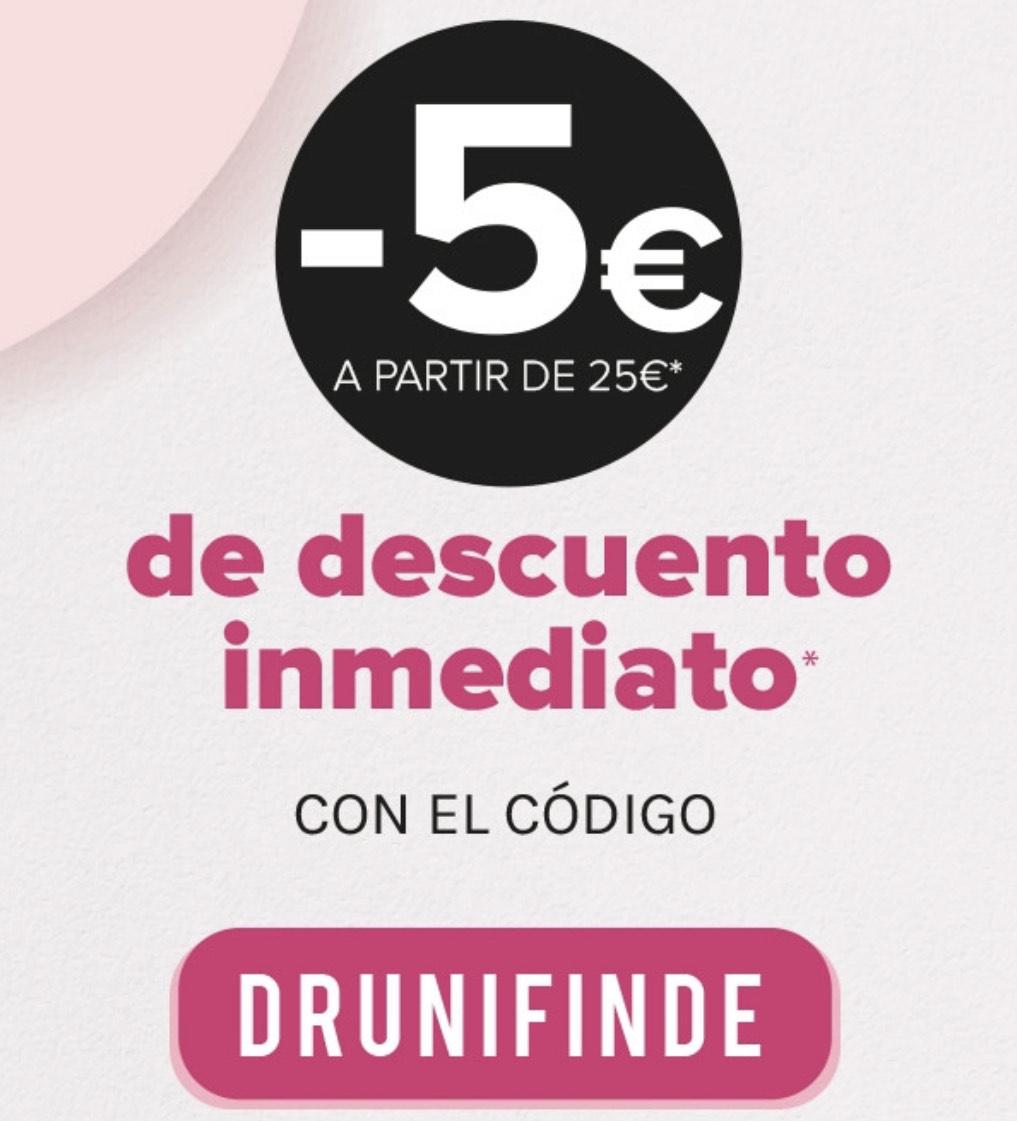 5€ de descuento al introducir el código DRUNIFINDE(Gastos mínimo de 25€)