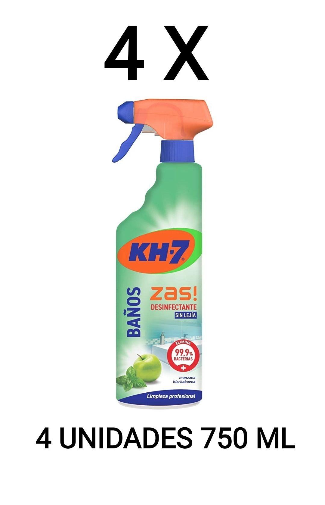 KH-7 4 UNIDADES Limpiador Baños y Desinfectante