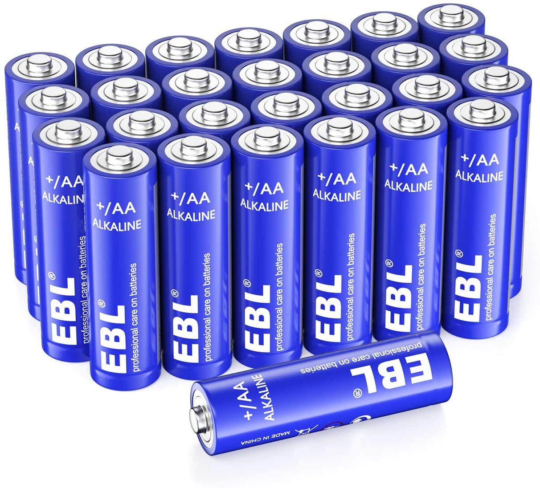 Pack 28 Pilas Alcalinas EBL Alkaline AA 1.5V - Las AAA también en oferta.