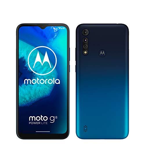 "Motorola Moto G8 Power Lite (Pantalla 6,5"" HD+, octa-core 2.3GHz, cámara triple 16MP, batería de 5000 mAH, Dual SIM, 4/64GB, Android 9)"