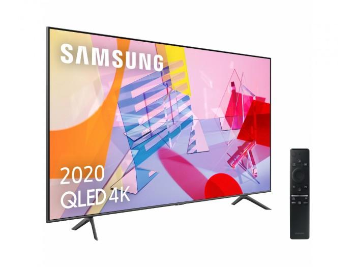 "TV QLED 55"" - Samsung QLED 4K 2020 55Q60T, Smart TV, 4K UHD, IA, Asistente de voz Integrado,Sonido Inteligente"