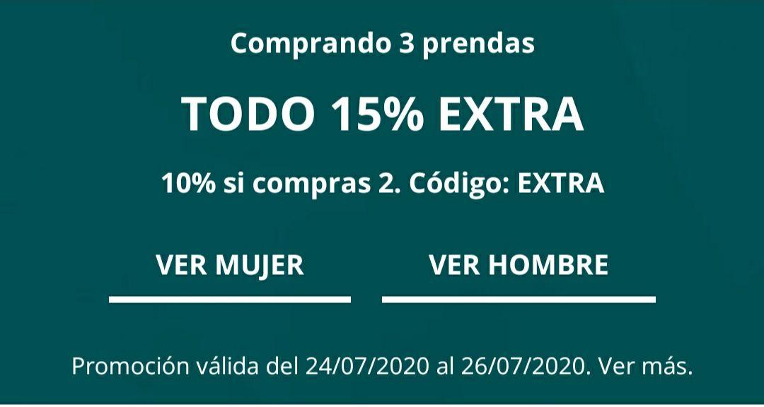 Cortefiel: HASTA 70 % DESCUENTO + 15% EXTRA