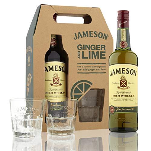 Pack Jameson Wisky Irlandés 700ml + 2 Vasos