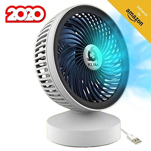 KLIM™ Breeze - Ventilador USB de Escritorio de Alto Desempeño – Ventilador de Mesa – Silencioso y Ajustable
