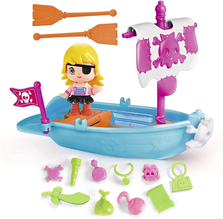 Bote Pirata con una figurita de Pinypon
