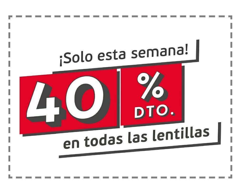 En general óptica solo esta semana 40% dto. en todas las lentillas!