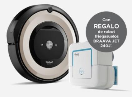 Robot Aspirador iRobot Roomba E5 + Robot friegasuelos iRobot Braava jet 240 de regalo