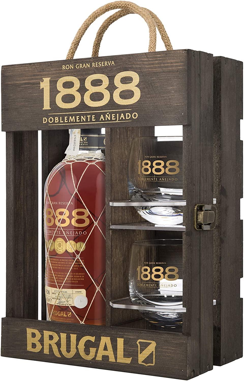 Estuche Brugal 1888 + 2 vasos solo 32.9€