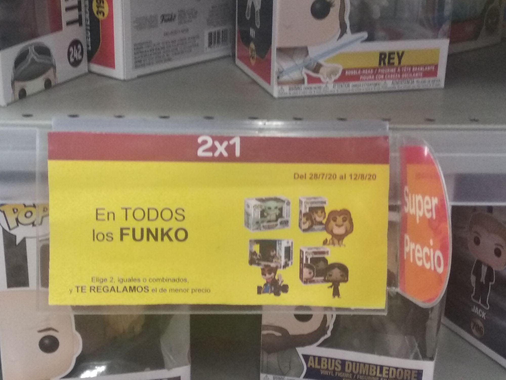 carrefour 2x1 en todos los funko en tienda física a nivel nacional