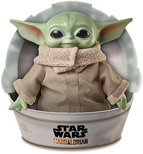 Star Wars Baby Yoda El niño de la serie The Mandalorian, figura peluche de 28 cm