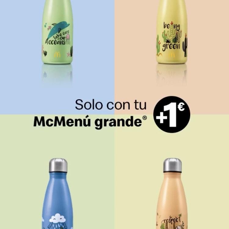 Botella reutilizable por 1 más € con un McMenú Grande