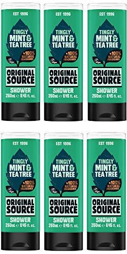 Pack 6 - Gel de ducha Original Source, de menta y árbol del té, 250 ml