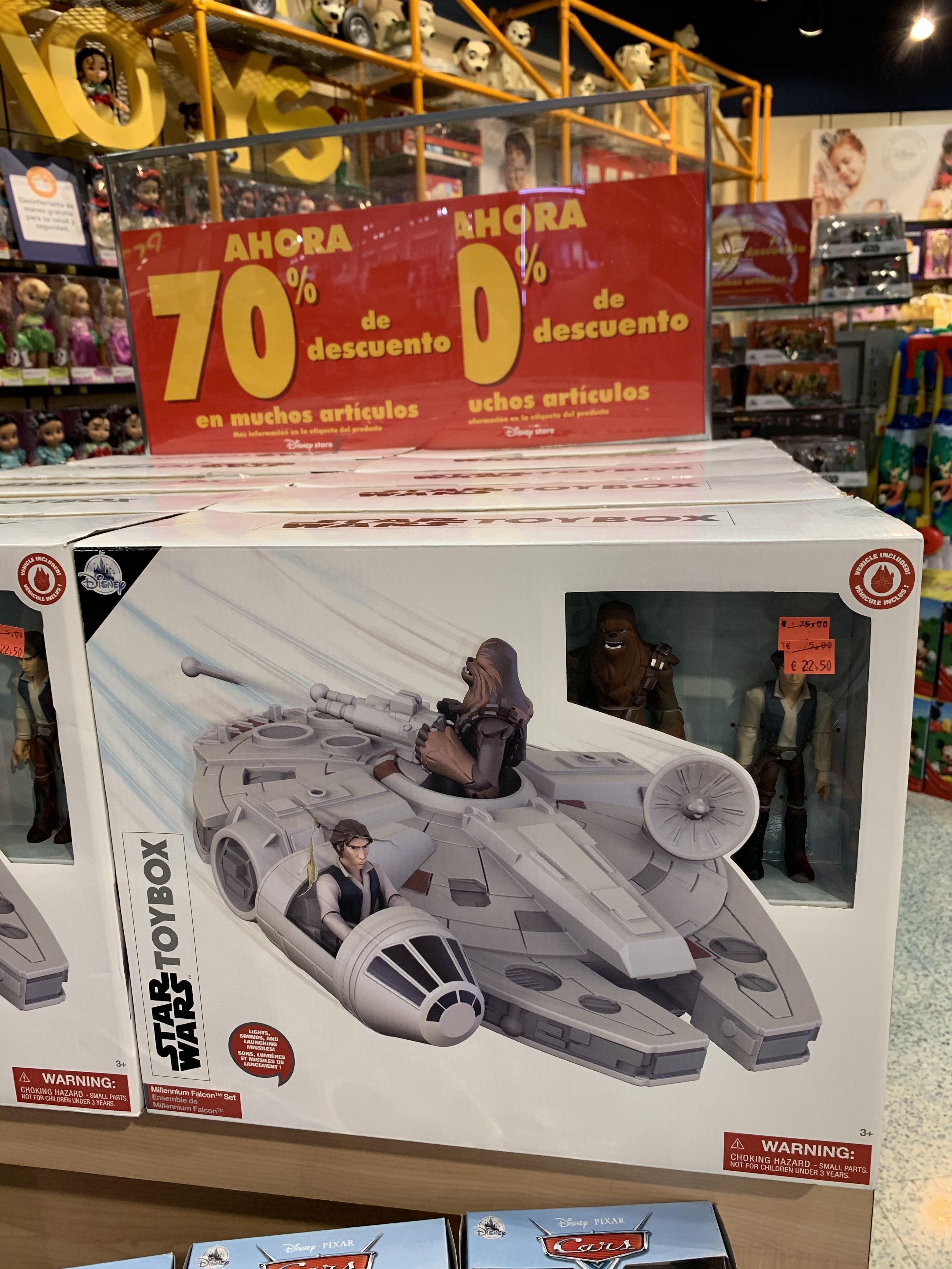 Liquidación Star Wars ToyBox Hacón Milenario (Disney Murcia)