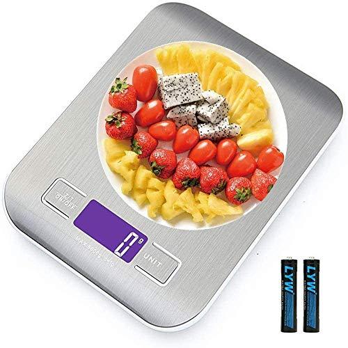 Báscula de cocina,Smart Digital Báscula con Pantalla LCD para Cocina