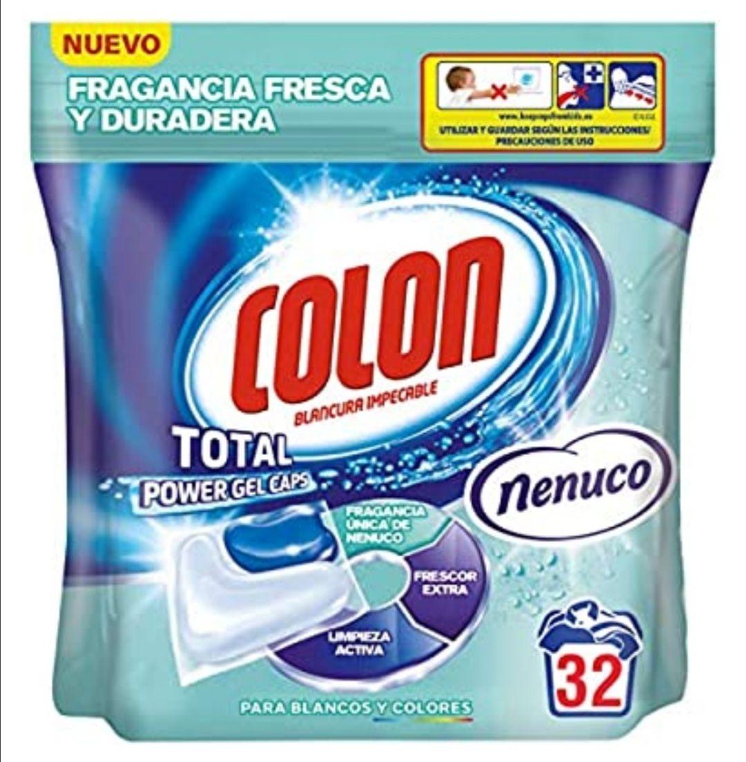 Colon Total Power Gel Caps Nenuco Detergente para Lavadora - 32 Dosis (compra recurrente y al tramitar)