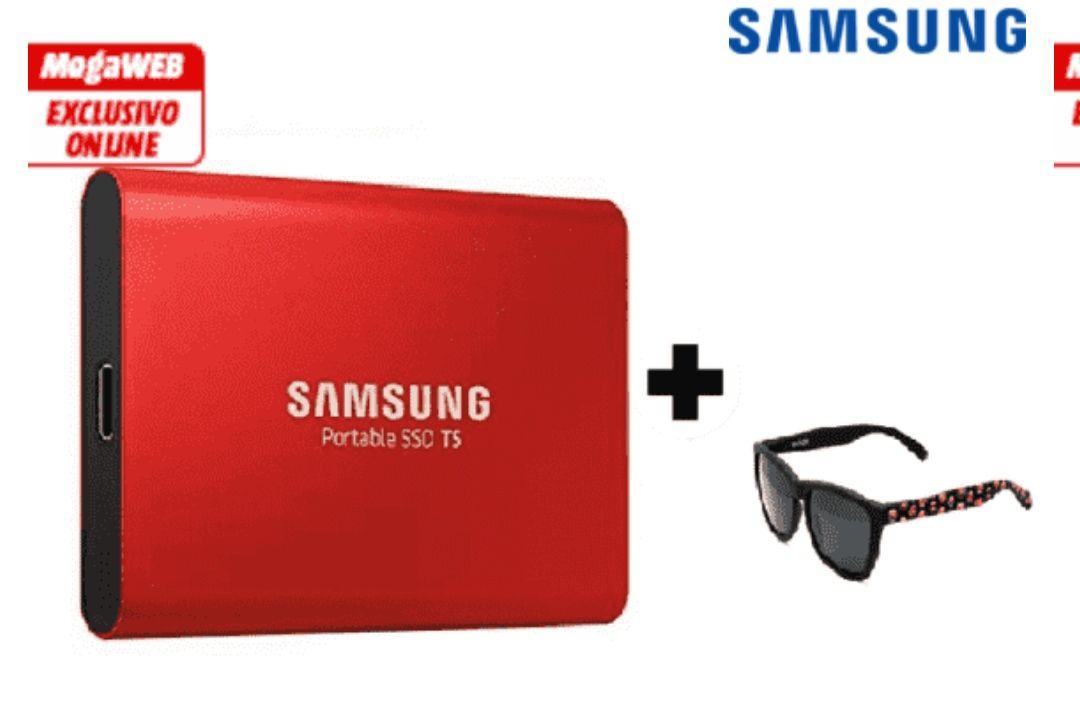 Disco duro SSD - Samsung 500 GB USB Tipo C, 3.1 + Gafas de sol *Mínimo*