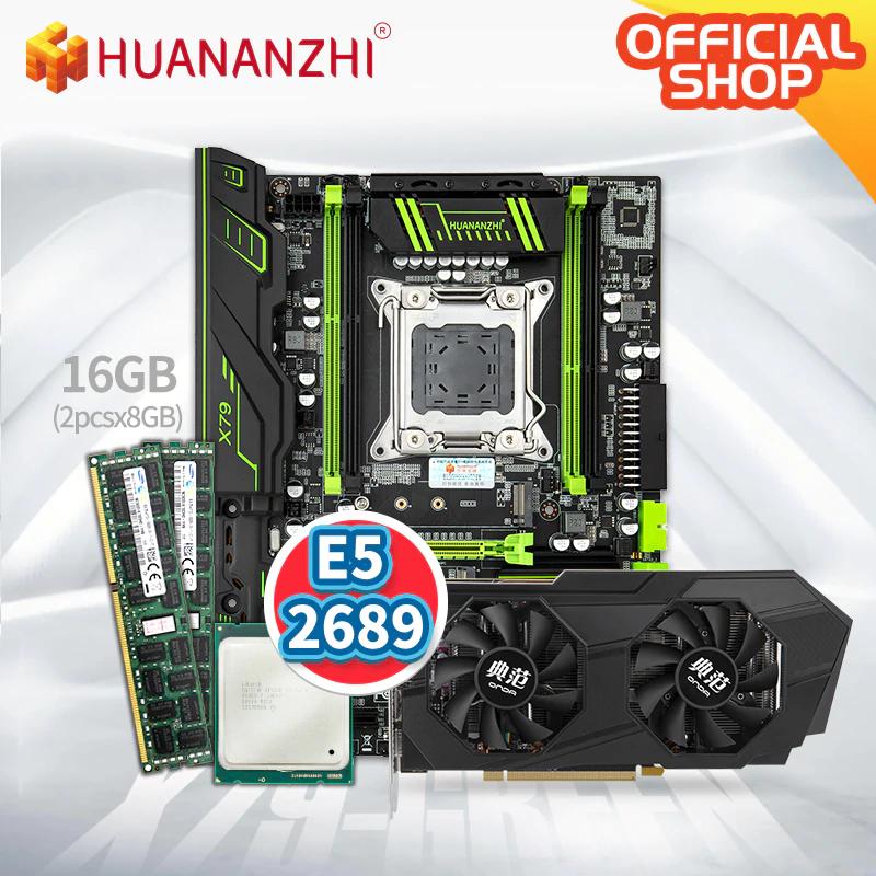 Combo HUANAN 1080p: RX 570 (4gb) + XEON 2689 + 16gb RAM + Placa Base